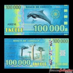 CORISCO - Billet de 5000 EKUELE - Dauphin - 2013