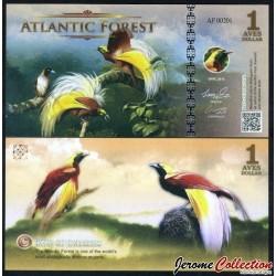 ATLANTIC FOREST - Billet de 1 Aves - Oiseaux Du Paradis - 2016