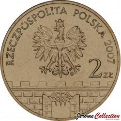 POLOGNE - PIECE de 2 ZLOTE - Villes de Pologne : Brzeg - 2007