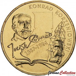 POLOGNE - PIECE de 2 ZLOTE - Joseph Conrad - 2007