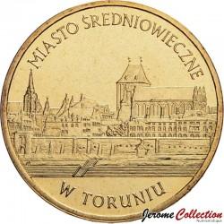 POLOGNE - PIECE de 2 ZLOTE - Monuments culture polonaise: Torun - 2007