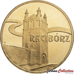 POLOGNE - PIECE de 2 ZLOTE - Villes de Pologne: Racibórz - 2007