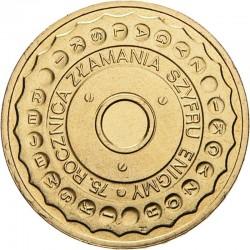 POLOGNE - PIECE de 2 ZLOTE - 75 ans du cassage du code Enigma - 2007