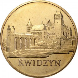 POLOGNE - PIECE de 2 ZLOTE - Villes de Pologne : Kwidzyn - 2007