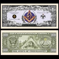 ETATS UNIS - Billet de 1 Million - Les étapes de la Franc maçonnerie - 2016