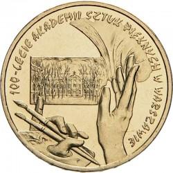 POLOGNE - PIECE de 2 ZLOTE - 100 ans de l'école des beaux arts de Varsovie - 2004