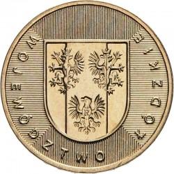 POLOGNE - PIECE de 2 ZLOTE - Voïvodie de Lodzkie (Lodz) - 2004 Y#487