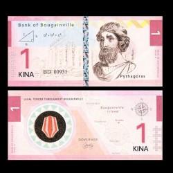 BOUGAINVILLE - Billet de 1 Kina - Série Scientifiques - Pythagore - 2013