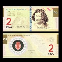 BOUGAINVILLE - Billet de 2 Kina - Série Scientifiques - Copernic - 2013