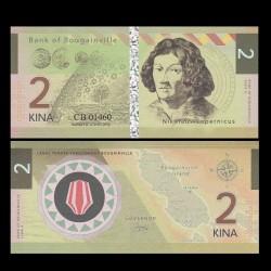 BOUGAINVILLE - Billet de 2 Kina - Série Scientifiques - Copernic - 2016 0002-2016