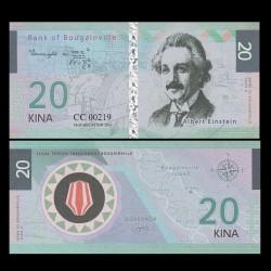 BOUGAINVILLE - Billet de 20 Kina - Série Scientifiques - Albert Einstein - 2016 0020-2016