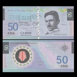 BOUGAINVILLE - Billet de 50 Kina - Série Scientifiques - Nicolas Tesla - 2016