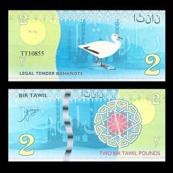 BIR TAWIL - Billet de 2 Pound - Canard - 2014