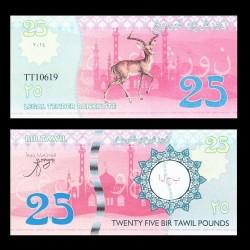 BIR TAWIL - Billet de 25 Pound - Gazelle - 2014