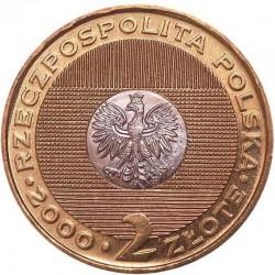 POLOGNE - PIECE de 2 ZLOTE - Millenium - 2000