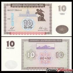 ARMENIE - Billet de 10 Dram - 1993