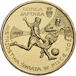 POLOGNE - PIECE de 2 ZLOTE - Coupe du monde de football en Corée - 2002 Y#433