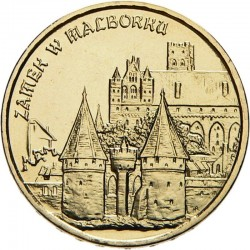 POLOGNE - PIECE de 2 ZLOTE - Château de Malbork - 2002