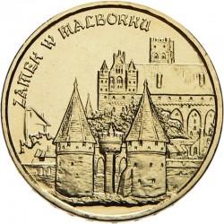 POLOGNE - PIECE de 2 ZLOTE - Château de Malbork - 2002 Y#443