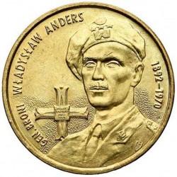 POLOGNE - PIECE de 2 ZLOTE - Général Wladyslaw Anders - 2002