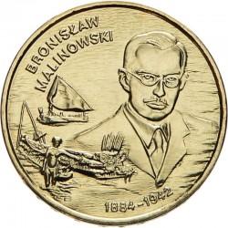 POLOGNE - PIECE de 2 ZLOTE - Explorateurs & Scientifiques Polonais: Bronisław Malinowski - 2002 Y#431