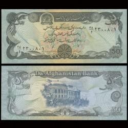 AFGHANISTAN - Billet de 50 Afghanis - 1991 P57b