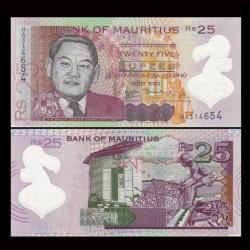 MAURICE (ile) - Billet de 25 Roupies / 25 Rupees - Polymer - 2013 P64a