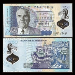 MAURICE (ile) - Billet de 50 Roupies / 50 Rupees - Polymer - 2013