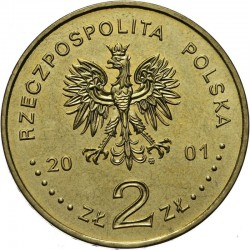 POLOGNE - PIECE de 2 ZLOTE - Explorateurs & Scientifiques Polonais : Michal Siedlecki - 2001
