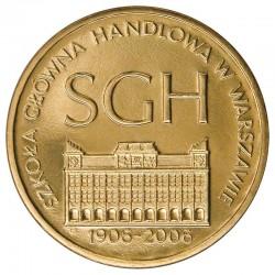 POLOGNE - PIECE de 2 ZLOTE - Ecole économique de Varsovie - 2006 Y#609