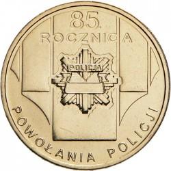 POLOGNE - PIECE de 2 ZLOTE - 85 ans de la police polonaise - 2004 Y#501