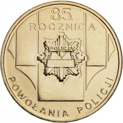 POLOGNE - PIECE de 2 ZLOTE - 85 ans de la police polonaise - 2004