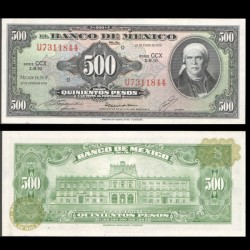 MEXIQUE - BILLET de 500 Pesos - 1978