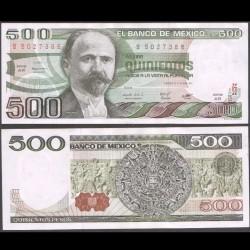 MEXIQUE - BILLET de 500 Pesos - 1981