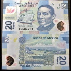 MEXIQUE - BILLET de 20 Pesos - Polymer - 2012