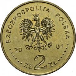 POLOGNE - PIECE de 2 ZLOTE - Anniversaire du Cardinal Stefan Wyszynski - 2001