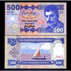 ZANZIBAR - Billet de 500 Rupees - Freddie Mercury - 2017 0500 - Gabris