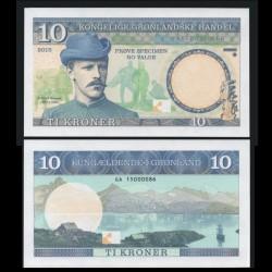 GROENLAND - Billet de 10 Kroner - Fridtjof Nansen - 2015 0010 - Gabris