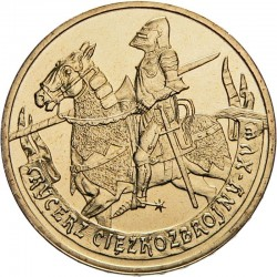 POLOGNE - PIECE de 2 ZLOTE - Histoire de la Cavalerie Polonaise : La cavalerie montée - 2007