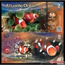 ATLANTIC OCEAN - 2 Ocean DOLLARS - 2016