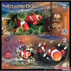 ATLANTIC OCEAN - Billet de 2 Ocean DOLLARS - 2016