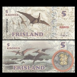 FRISLAND - Billet de 5 Kroner - Ptéranodon - 2016