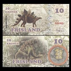 FRISLAND - Billet de 10 Kroner - Stégosaures - 2016