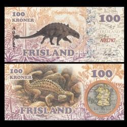 FRISLAND - Billet de 100 Kroner - Ankylosaure - 2016