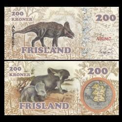FRISLAND - Billet de 200 Kroner - Protoceratops - 2016