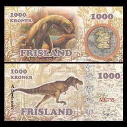 FRISLAND - Billet de 1000 Kroner - Tyrannosaure - 2016