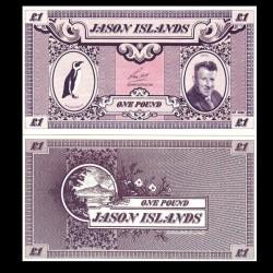 ÎLES JASON / MALOUINES - Billet de 1 Pound - Manchot du Cap - 1979