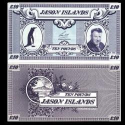 ÎLES JASON / MALOUINES - Billet de 10 Pounds - Manchot papou - 1979