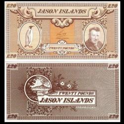 ÎLES JASON / MALOUINES - Billet de 20 Pounds - Manchot royal - 1979