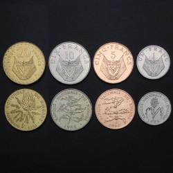 RWANDA - SET / LOT de 4 PIECES - 1 5 10 20 Francs - 1977 1985 1987